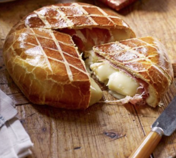 Little Milk Company Brie wrapped in prosciutto & brioche