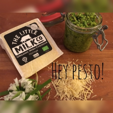 Wild Garlic Pesto made with The Little Milk Company Vintage Cheddar