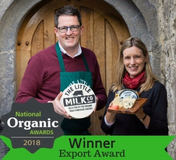 Winner!  Export Award at the National Organic Awards 2018 - Bord Bia