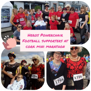 Supporting Heroes Powerchair Football at Cork Mini-marathon 2019