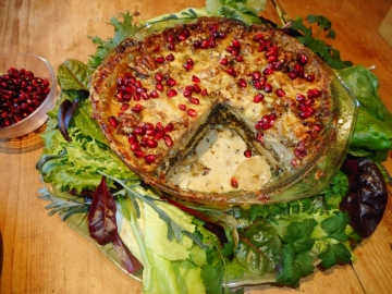 Potatoe, Kale, Two Cheese & Walnut Bake - 'From tunnel to table' from Nicky Kyle